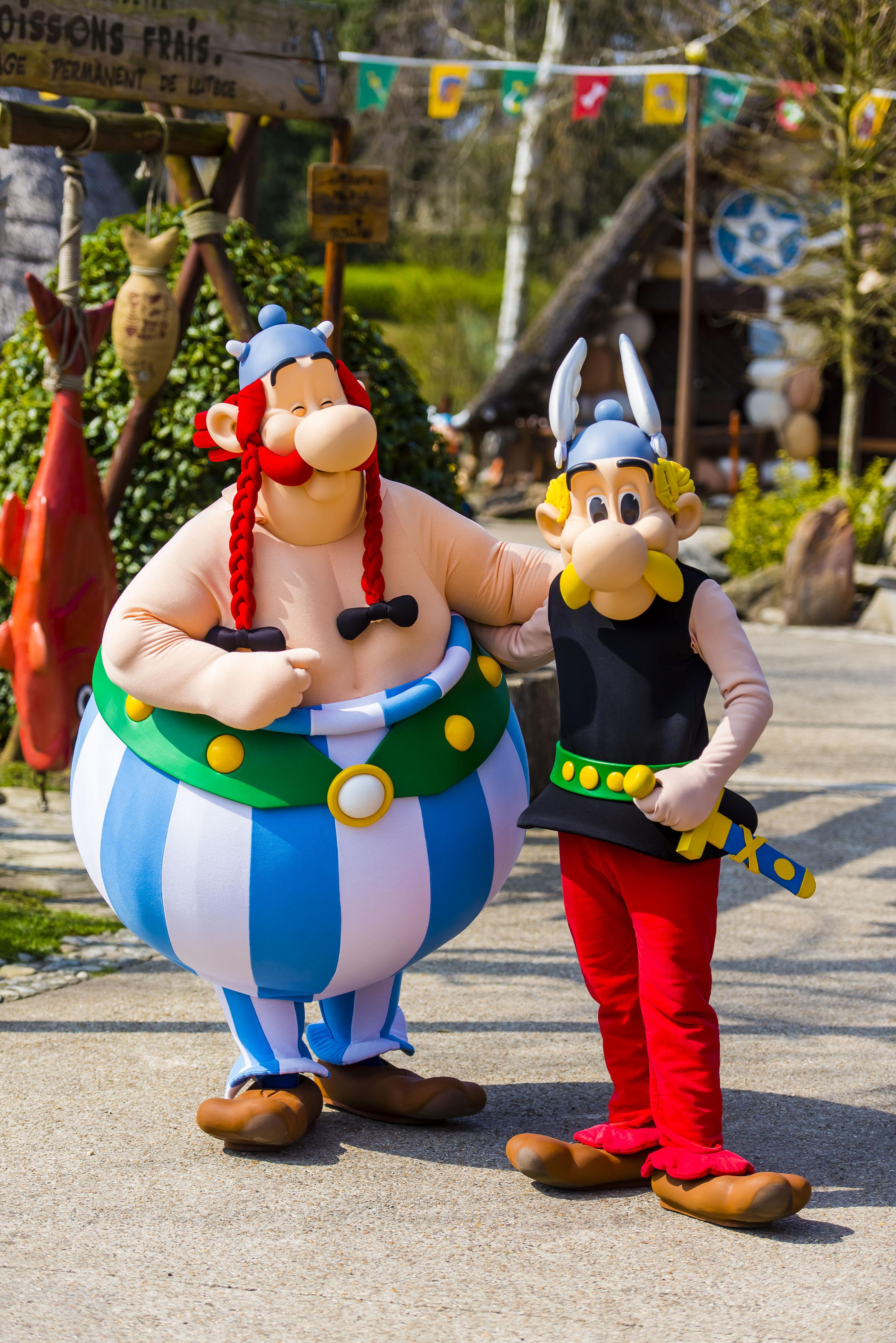 Ou rencontre t on obelix et asterix au parc asterix